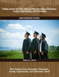 First Nations Post Secondary Education - Indigenous Peoples ...
