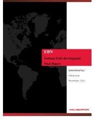 Notional Field Development Final Report - EBN