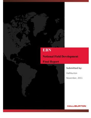 Notional Field Development Final Report - EBN