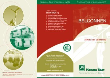 NT- BELCONNEN 1 brochure [10-2006] - National Trust of Australia
