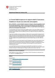 Le Conseil fédéral approuve le rapport relatif à l ... - Sans-Papiers