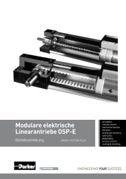 Modulare elektrische Linearantriebe OSP-E - MACCON GmbH