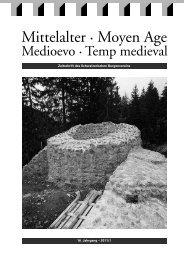 16. Jahrgang – 2011/1 Zeitschrift des Schweizerischen Burgenvereins