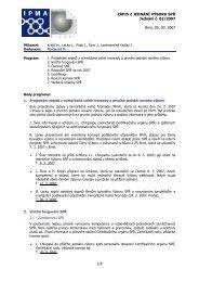 Zápis z jednání výboru č. 2 ze dne 05.03.2007 - IPMA
