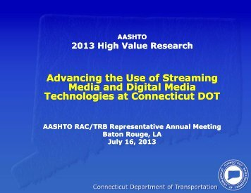 Advancing the Use of Streaming Media and Digital Media ...