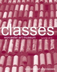 adult classes - Worcester Art Museum