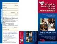 This is your AASA! - American Association of School Administrators