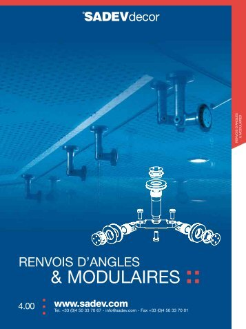 Renvois d'angles et modulaires - Sadev Architectural Glass Systems