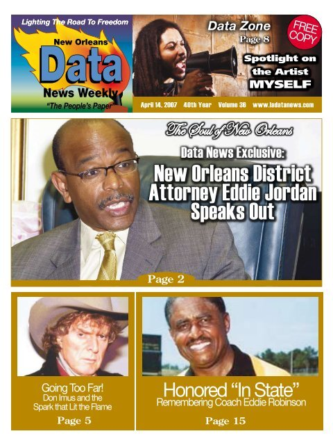 New Orleans District Attorney Eddie Jordan Speaks Out