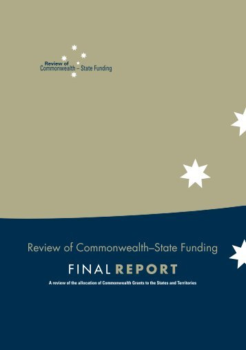 Garnaut Fitzgerald Review of Commonwealth-State Funding