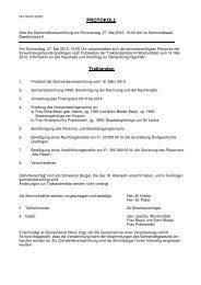Protokoll vom 27. Mai 2010 - Grellingen