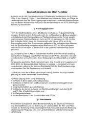 Baumschutzsatzung der Stadt Konstanz