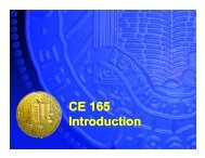 CE 165 Introduction - Civil and Environmental Engineering