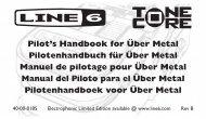 uber metal pilot's handbook - electrophonic limited ... - zZounds.com