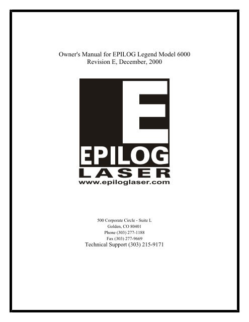 Epilog Summit Laser Engraver Manual - Epilog Sample Gallery