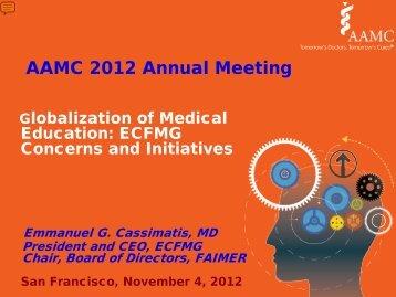 AAMC 2012 Annual Meeting