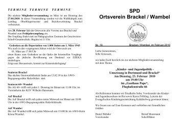 Info Februar 2010 - SPD Dortmund
