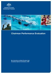 Chairman Performance Evaluation - Office for Recreation and Sport