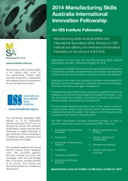 2014 MSA ISS Application Form