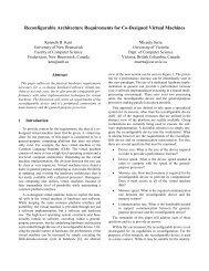 Reconfigurable Architecture Requirements for Co-Designed Virtual ...