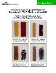 Insulating Paper Aging Comparison Envirotemp FR3 Fluid vs ...