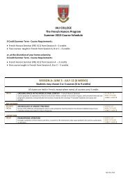 The French Honors Program – Summer 2013