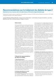 Recommandations sur le traitement du diabète de type 2. Forum ...