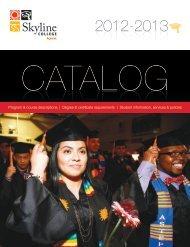 Skyline College Catalog 2012-2013