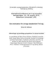 Om motivation for at tage akademisk IT til sig - ansatte - Roskilde ...