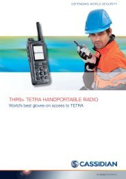 THR9+ TETRA HANDPORTABLE RADIO - TC Connect