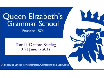 or GCSE
