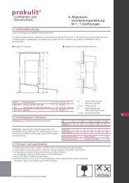 Montageanleitung Prokulit-Stecksystem