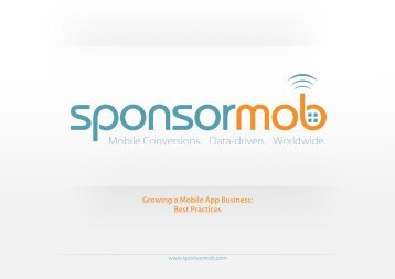 Growing a Mobile App Business: Best Practices - Sponsormob