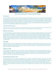 Travel Tips And Facts For Tahiti And Her - Sunsational Vacations