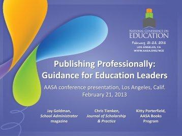 Publishing Professionally - American Association of School ...