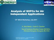Analysis of SOFCs for Air Independent Applications