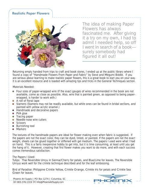 The Idea Of Making Paper Flowers Has Always Phoenix Art Supply
