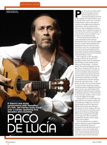 If there's one artist synonymous with flamenco, it's him ... - Songlines