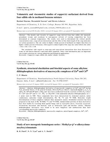 Abstracts of Journal of Indian Chemical Society Vol.89, May 2012 ...