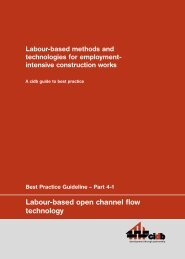 Labour-based Methods and Technologies for Employment-intensive ...