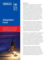 Adaptation Fund - Gender Climate
