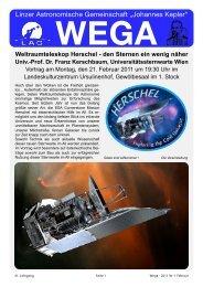 WEGA Februar 2011 - Linzer Astronomische Gemeinschaft