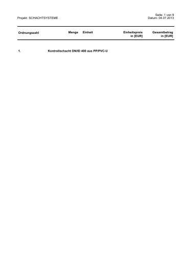Kontrollschacht Pipelife V400 (PDF)