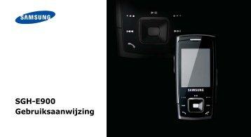 SGH-E900 Gebruiksaanwijzing - T-Mobile Toestelhulp