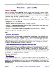 October 2012 - GFWC Maryland Federation of Women's Clubs