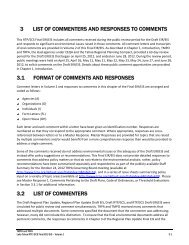 List of Commenters and Responses to Comments - Tahoe ...