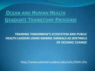 Training Tomorrow's Ecosystem and Public Health Leaders