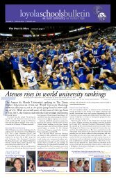 Loyola schools Bulletin - Ateneo de Manila University