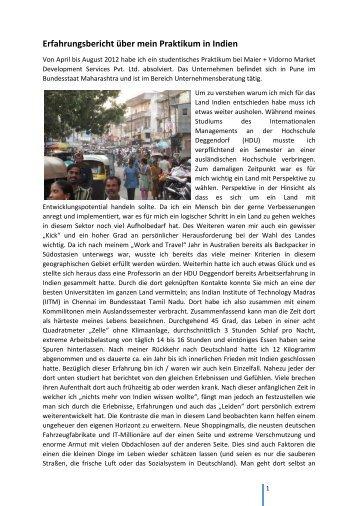 Praktikum in Pune - bayerisch-indisches zentrum