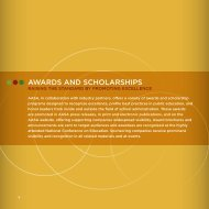 awardS and SCholarShipS - American Association of School ...